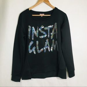 Juicy Couture Insta Glam sequin sweatshirt
